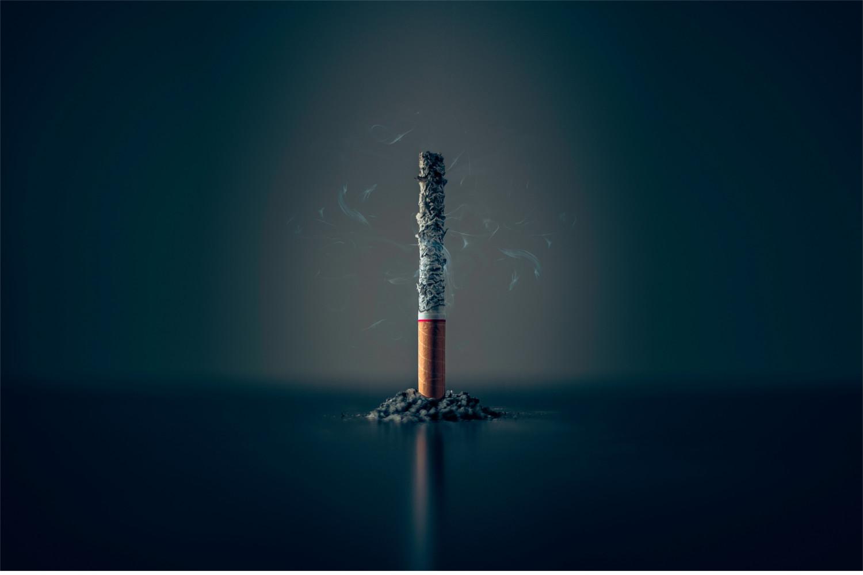 Nikotin in Zigaretten | Eine abgebrannte Zigarette